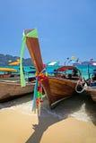 Longtail boats Stock Photo