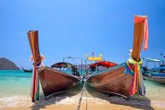 Longtail boats Stock Photos