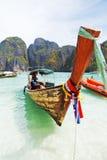 Longtail boats, Maya bay, Thailand Royalty Free Stock Photo