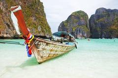 Longtail boats, Maya bay, Thailand Royalty Free Stock Photography