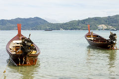 Longtail boats at Patong Beach Royalty Free Stock Image