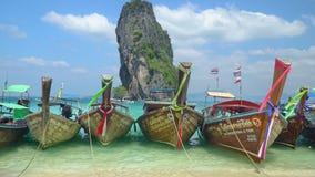 Longtail boats at Poda island, Krabi Thailand Stock Image