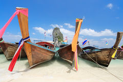 Longtail boats at Poda island ,Krabi Thailand. Stock Photo