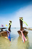Longtail boats in Thailand Royalty Free Stock Photos