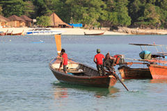 Longtail boats in Thailand Stock Photos