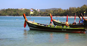 Longtail boats in Thailand Royalty Free Stock Photography
