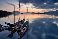 Longtail boats Stock Images