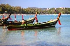 Longtail Boote in Thailand Stockbild