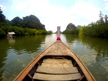 Longtail fartyg Phang Nga arkivfoton
