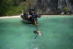 Longtail fartygpropeller Arkivfoto