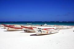 Longtail łodzie w Meksyk Obraz Royalty Free