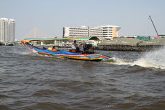 Longtail tour on the Chao Praya River in Bangkok, Thailand Royalty Free Stock Photos