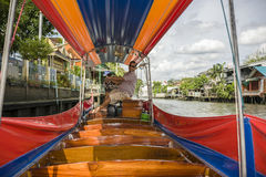 Longtail Tour On The Chao Praya River In Bangkok, Thailand Stock Images