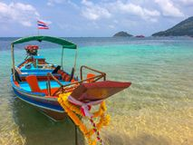 Longtailboat. South Island of thailand Royalty Free Stock Photography