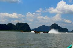 Longtailboat. Typical Thai Boats Royalty Free Stock Images
