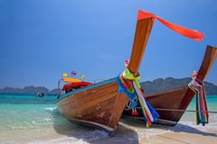 Longtailboten, Thailand Stock Afbeelding