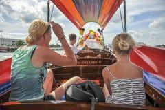 Longtailreis op Chao Praya River in Bangkok, Thailand Royalty-vrije Stock Foto's