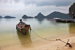 longtal förtöjt thai för ankarfartyg Royaltyfria Foton