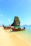 Longtale boat on the beach Stock Photography