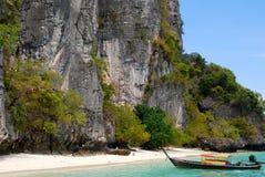 Longtale boats at the beautiful beach Stock Photo