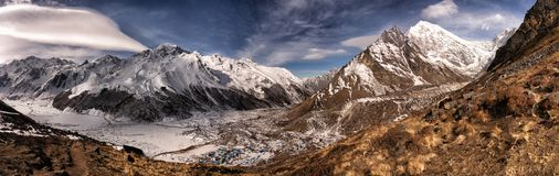 Longtang mountain top view stock image