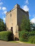 Longthorpe Tower  a 14th-century three-storey tower in the village of Longthorpe, famous for its well-preserved set of medieval m Royalty Free Stock Photo