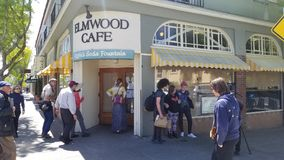 Elmwood Cafe Shut Down stock images