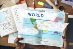 Longtitude纬度世界绘图概念 免版税库存图片