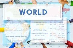 Longtitude纬度世界绘图概念 库存图片