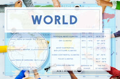 Longtitude Latitude World Cartography Concept Stock Images