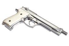 Longue arme à feu de Beretta M9 d'isolement sur le blanc Photo stock