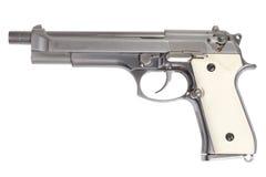 Longue arme à feu de Beretta M9 d'isolement sur le blanc Photos stock