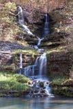 Longue cascade de canyon de cornouiller d'exposition Image libre de droits