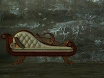 longue classico del chaise 3d Illustrazione Vettoriale