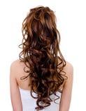 Longue coiffure bouclée de mariage Photo libre de droits