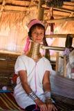 Longue dame de cou Kayan, Karen rouge (Karenni) Photographie stock libre de droits