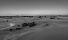 Longue exposition dans l'Algarve photographie stock