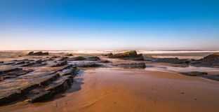 Longue exposition dans l'Algarve Photo libre de droits