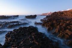 Longue exposition de côte atlantique, Maroc Photo libre de droits