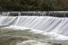 Longue exposition de cascade en bois de Humford Image libre de droits