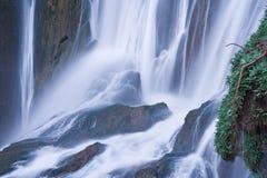 Longue exposition de ` Ouzoud, cascade des cascades d chez Ouzoud, Maroc images libres de droits