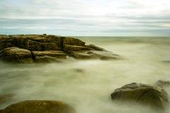 Longue exposition de plage Image libre de droits