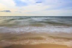 Longue exposition de plage Photos libres de droits