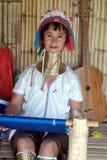 Longue femme de cou Image stock
