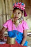 Longue fille de cou en Thaïlande Photos stock