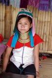 Longue fille de cou en Thaïlande Photo stock