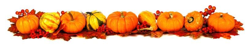 Longue frontière d'automne Photo stock