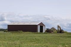 Longue grange rouge images stock