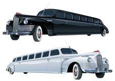 Longue limousine de cru de vecteur Image libre de droits