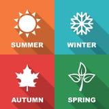 Longue ombre de saison plate illustration stock